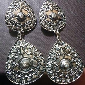 Silver Plated Dangling Earrings